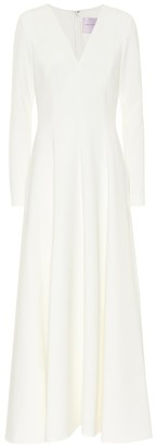 Carolina Herrera Bridal crepe gown