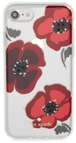 Kate Spade Jeweled Poppy Iphone 7 & 7 Plus Case - Red