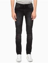 Calvin Klein Skinny Leg Sunlit Black Moto Jeans