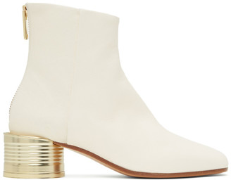 MM6 MAISON MARGIELA White Can Heel Boots