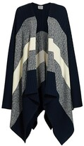 Thumbnail for your product : St. John Colorblock Rib-Knit Wool Cardigan