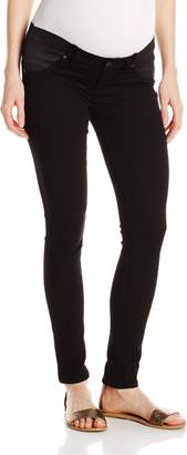 Paige Women's Maternity Verdugo Ultra Skinny with Elastic Insets in Black Shadow 25