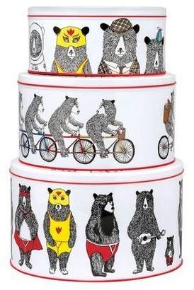 Elite Gift Boxes - Jimbob Art Bears Set Of 3 Round Cake Tins