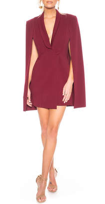 Katie May Boss Lady Mini Cape Dress