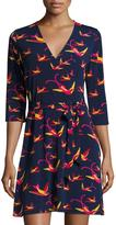 Neiman Marcus 3/4-Sleeve Perfect Wrap Dress