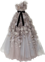 Marchesa One Shoulder Layered Tulle Ball-Gown