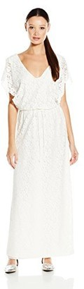 Lucy-Love Lucy Love Women's Villa Lace Drawstring Maxi Dress