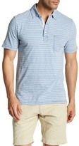 Faherty Short Sleeve Stripe Polo