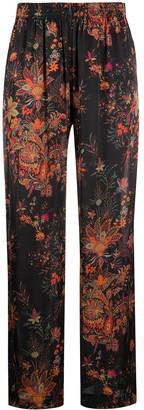 Paco Rabanne Paisley Print Wide-Leg Trousers