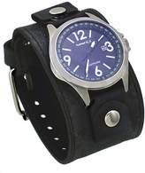 Nemesis FLBB251L Men's Signature Sapphire Collection Dial Wide Leather Band Watch