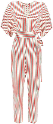 Vanessa Bruno Striped Silk Jumpsuit