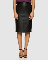 Oxford Scout Leather Skirt