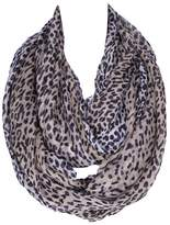 Sunday rose Leopard Print Infinity Scarf Sundayrose Lightweight Animal Circle Loop Scarves