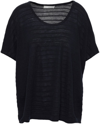 Vince Jacquard-knit Wool And Cashmere-blend Top