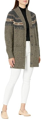 Pendleton Donegal Knit Cardigan (Grey Multi) Women's Sweater