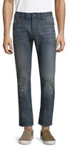 John Varvatos Solid Bowery Straight Leg Jeans