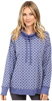Carole Hochman Popover Top with Flocking
