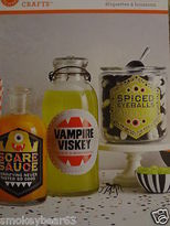 Martha Stewart Halloween Beverage /wine/ Food Vampire Labels