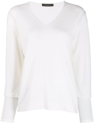 Fabiana Filippi V-neck knit top