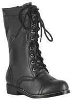 BuySeasons Kid's Combat Boots Black
