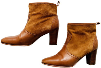 Polder Camel Leather Ankle boots