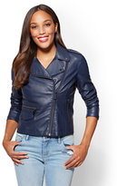 New York & Co. Faux Leather Moto Jacket