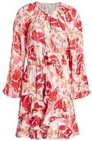 Parker Bertie Floral Ruffle-Trim A-Line Dress