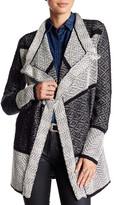 Lucky Brand Boucle Knit Drape Cardigan