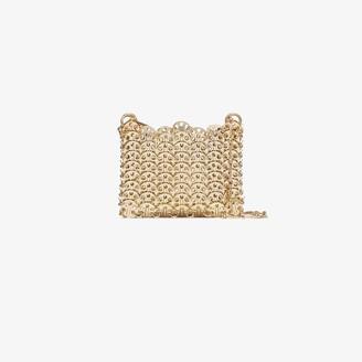 Paco Rabanne Gold Nano 1969 mini chain bag