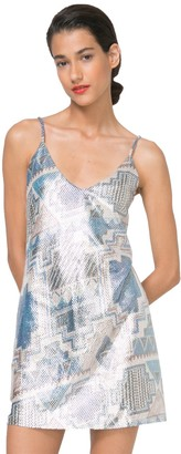 Desigual Women's Dorotea Knitted Strapless Dress Marine L