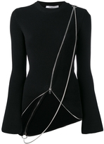 Givenchy Ribbed Asymmetrical Sweater