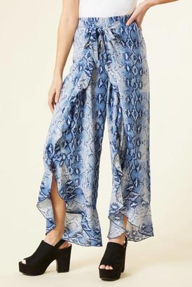Surf.Gypsy Blue Snakeskin Wrap Leg Pant Blue M