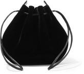 Vanessa Seward Caprice patent leather-trimmed velvet shoulder bag
