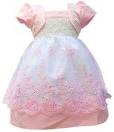 Weixinbuy Kid Baby Girl Tulle Puff Sleeve Party Princess Tutu Dress S