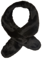 Badgley Mischka Women's Faux Fox Pull Thru Scarf