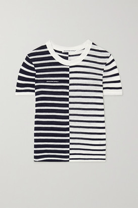 Alexander Wang Striped Slub Jersey T-shirt - Ivory