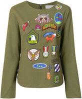 Mira Mikati multi print blouse