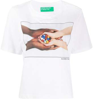 Benetton graphic print boxy T-shirt