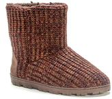 Muk Luks Women's Marled Knit Boot Slippers