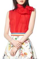 Gracia Red Bow Top