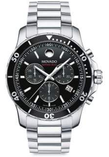 Movado Series 800 Stainless Steel Chronograph Bracelet Watch - Silver