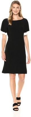 Tiana B T I A N A B. Women's Shift Dress with Duble Flared Sleeves