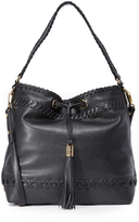 Milly Small Whipstitch Hobo Bag