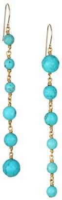 Nest Graduated Turquoise Bead Drop Earrings