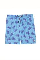 Tom & Teddy Pineapple Elastic Waist Swim Short