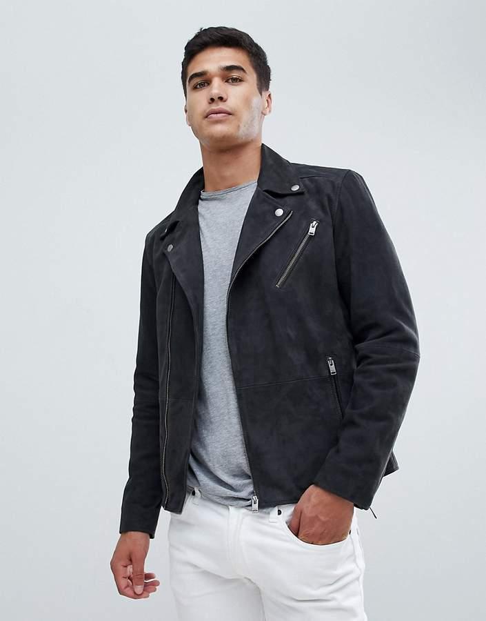 70681650d Nubuck Leather Biker Jacket