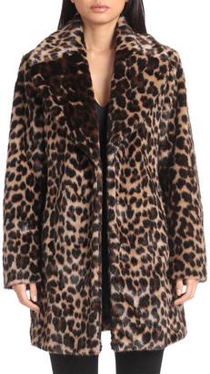 AVEC LES FILLES Jaquard Leopard Coat