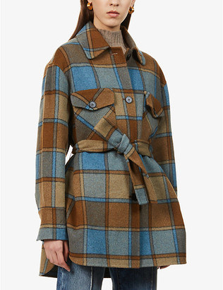 Sandro Ovana single-breasted wool-blend coat