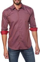Jared Lang Chevron Print Semi-Fitted Shirt