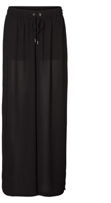 Noisy May Women's Ikona Long Wide Pant with Side Slit